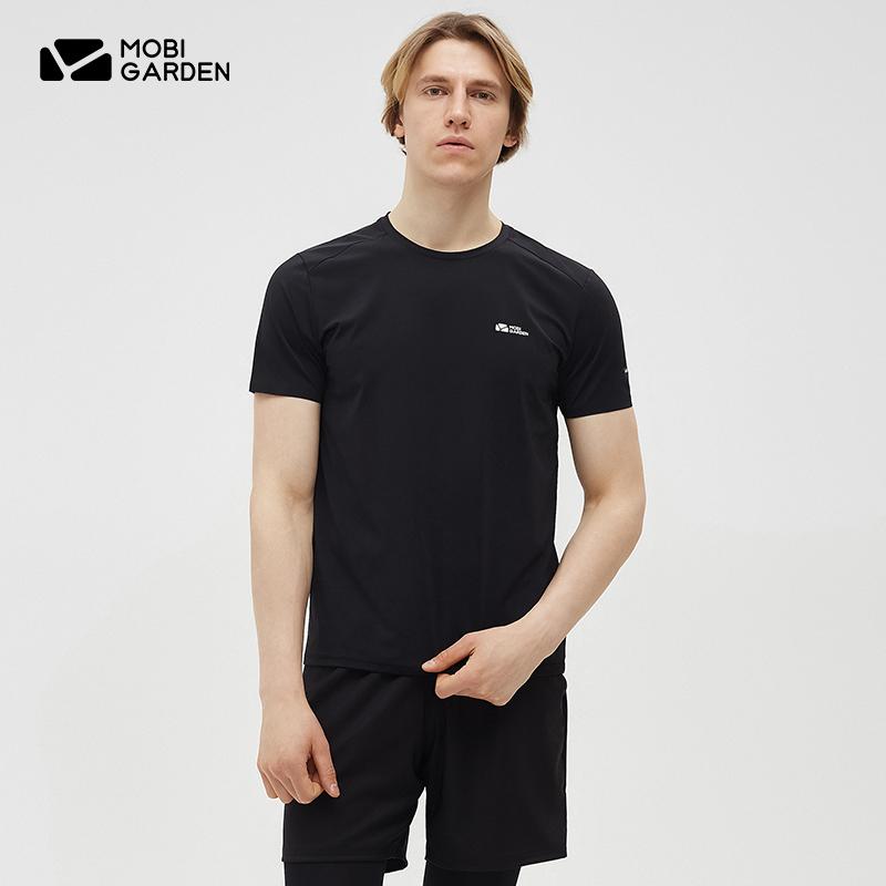 牧高笛户外 速干T恤男短袖健身功能衣运动跑步上衣