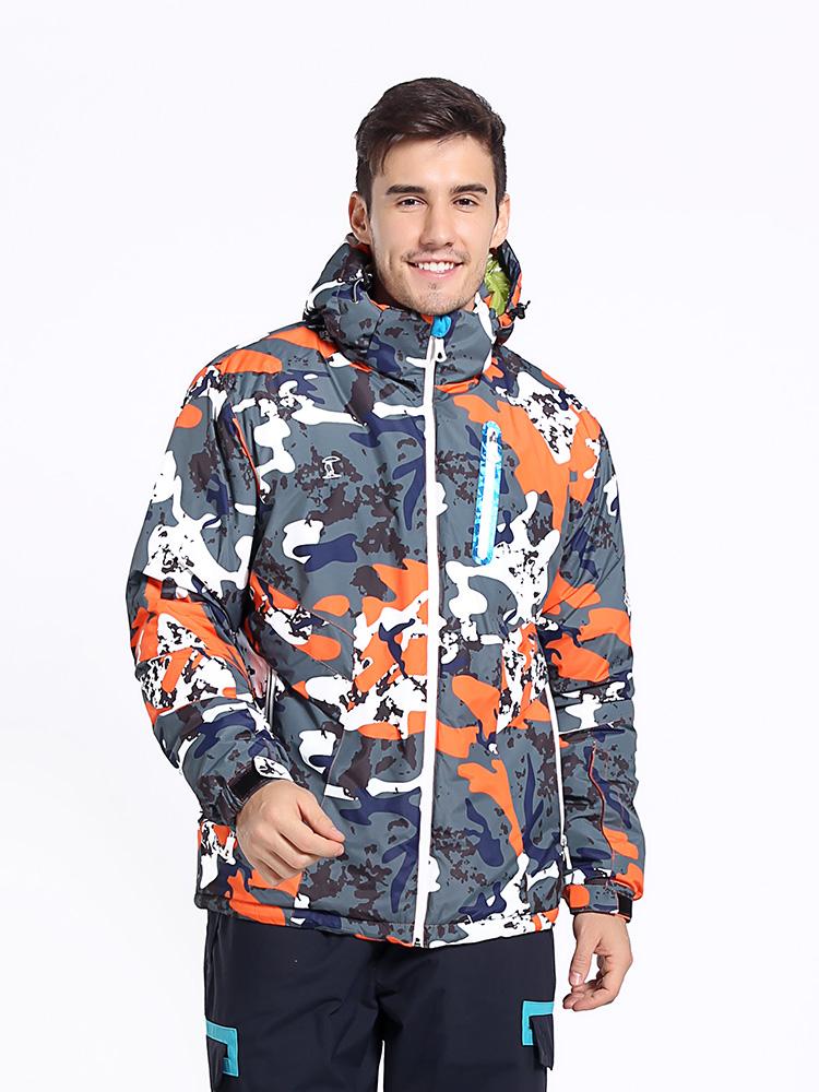户外滑雪服迷彩冲锋衣男夹棉加厚秋冬防风保暖热反射雪乡西藏旅游