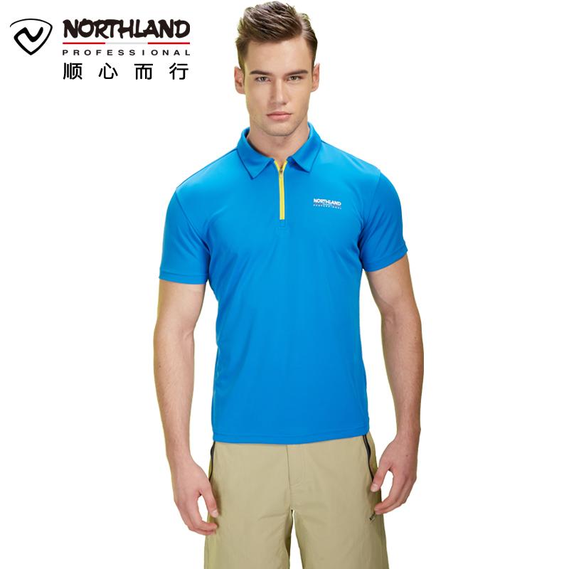 诺诗兰(NORTHLAND)户外运动男式透气短袖T恤GQ055907