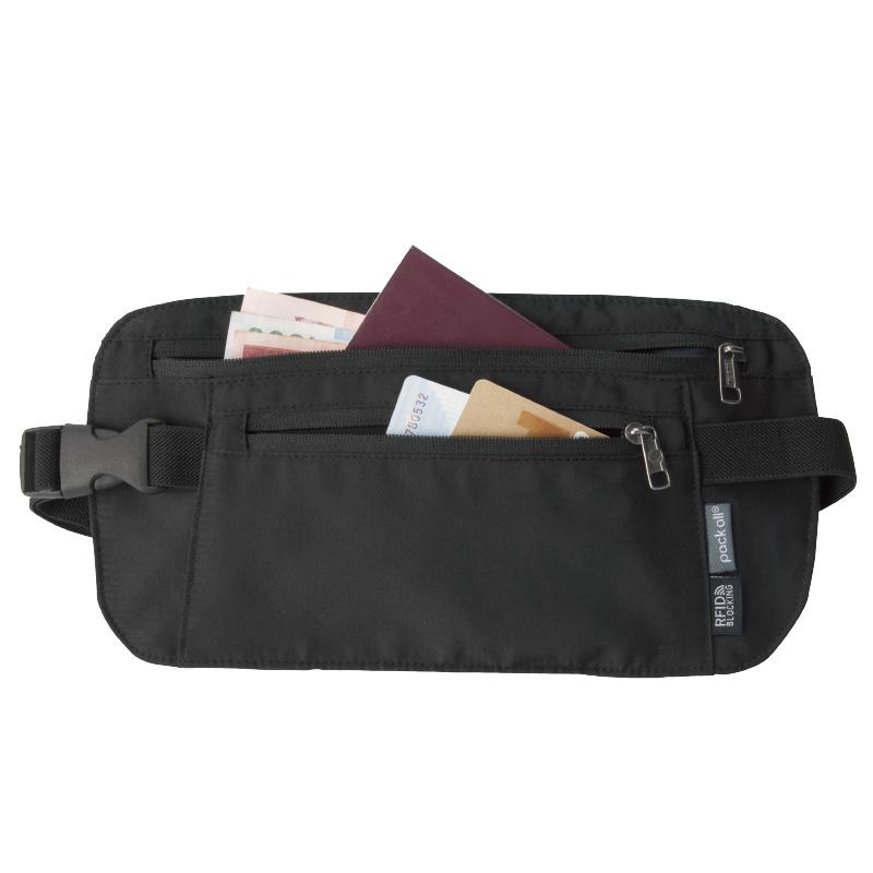 packall运动腰包隐形手机包男女贴身防盗刷多功能卡包旅行护照包