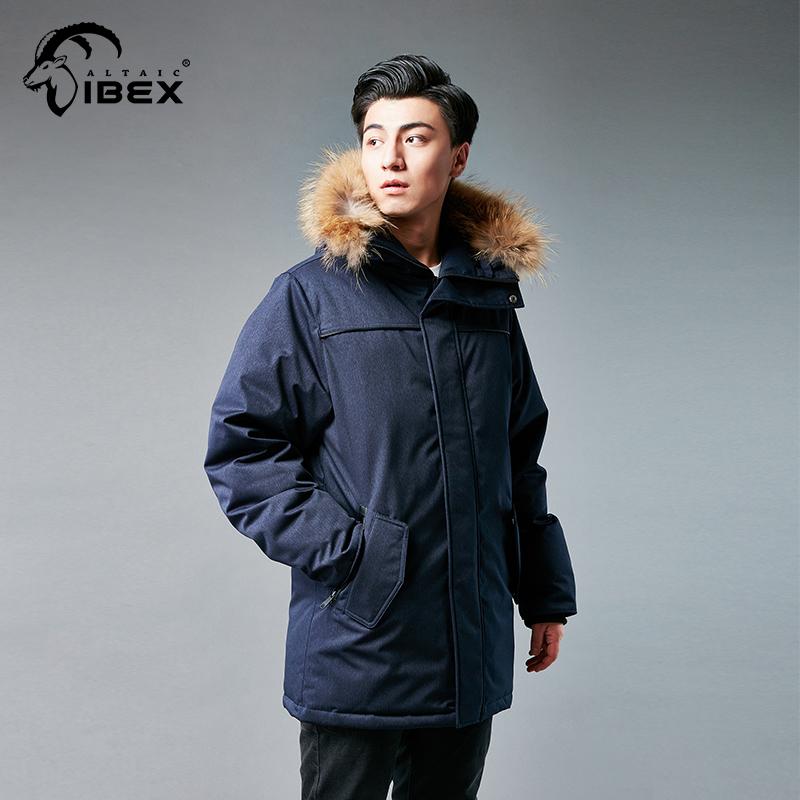 岩羚男士户外羽绒服超强保暖连帽羽绒大衣运动休闲羽绒服